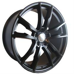 19x8.5 5x112 RWB33-F +25 66.6 Satin Black (Cone Seat)